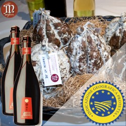 Una Salama da Sugo al cucchiaio IGP di 1,4Kg + 2 Bottiglie di Vino Rosso Boron